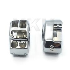 Chrome Switch Housing Cover Kit For Harley 14-16 Touring Trike Street Glide