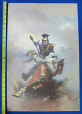"""Frank Frazetta's Flashman at the Charge Print  23"""" by 15"""" 1974"""