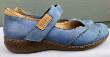 Mephisto Mobils Air Relax Women Blue Leather Mary Jane Comfort Shoes US 7.5
