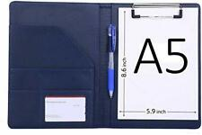 Small Padfolio Clipboard A5 Folder for Writing Pad Refillable 5 x 8 Note pad ...