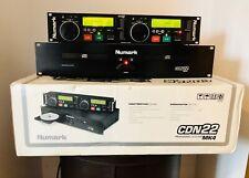 NUMARK CDN22 MK4 PRO DUAL TWIN CD-R PLAYER WITH ORIGINAL BOX FREE UK POST EUROPE