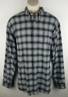 Columbia Mens Long Sleeve Button Front Plaid Shirt Sz XXL 100% Cotton EUC