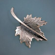 BEAU BEAUCRAFT Vintage 925 Sterling Silver LEAF Autumn Fall Theme Pin Brooch