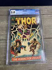 Thor #129 1966 CGC 5.0 Hercules Zeus 1st Artemis Hephaestus & Modern Ares