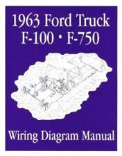 FORD 1963 F100 - F750 Truck Wiring Diagram Manual 63