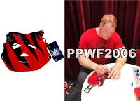 WWE KANE HAND SIGNED AUTOGRAPHED LICENSED RUBBER MASK WITH PICTURE PROOF AND COA