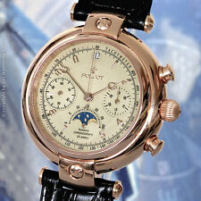 Poljot 31679 basílica Silver Century fases lunares zafiro Russian President Watch