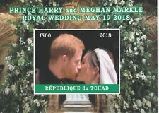 Chad 7599 - 2018 HARRY & MEGHAN WEDDING  imperf deluxe sheet  unmounted mint