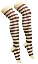 Over The Knee Purple And White Stripy Stripey Socks Sox Striped Fancy Dress Hen