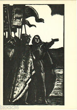 1963 Russian Pcard BEFORE THE FIGHT to W.Shakespeare's HENRY V (by A.Goncharov)