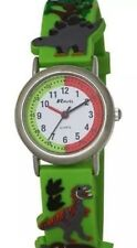 NEW RAVEL CHILDRENS KIDS 3D GREEN TIME TEACHER DINOSAUR QUARTZ WATCH R1513.59