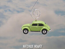 Split Window Volkswagen Beetle Christmas Ornament VW Bug Type 1 Air Cooled Green