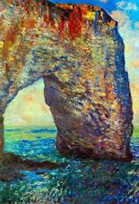 Claude Monet The Rocky Cliffs of Etretat La Porte Man 2 Art Print Poster - 13x19