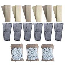 12 x Compatible Fluval U3 Foams + Polycarbon Cartridges 3 170g Compatible Biomax