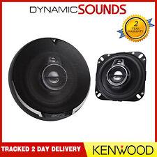 Kenwood total de 440W 3-Way 4 pulgadas 10cm Puerta Del Coche/Altavoces Coaxiales De Estante Par Nuevo