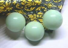 3 RARE NATURAL APPLE GREEN AUSTRALIAN CHRYSOPRASE ROUND BEADS 16mm 88cts AAA+++