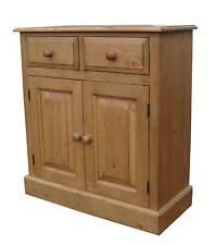 """Hall Cupboard/Dining room Sideboard Solid Pine 2 Door 2'6"""" Shallow (13"""" Deep)"""