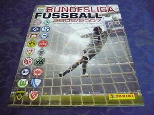 Panini -sammelalbum __ Bundesliga 2006/2007 __Leeralben __