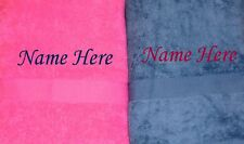 Personalised Wedding Beach Anniversary Engagement Towel Gift Set- Navy & Pink