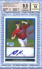 2009 Bowman DP MIKE MINOR AUTOGRAPH ROOKIE BGS 9.5 GEM MINT Atlanta Braves