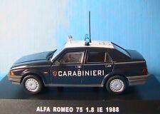 ALFA ROMEO 75 1.8 IE CARABINIERI 1988 DEAGOSTINI 1/43 BERLINE POLIZIA ITALIA