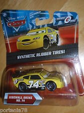 Disney Pixar Cars SIDEWALL SHINE Kmart 5 with rubber tires No.74