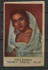 Lola Flores Vintage Movie Film Star Trading Card No. D-42