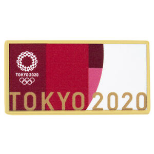 Tokyo Olympics 2020 Look of the Games Pin Badge deep red Size: W30 x H15mm