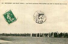 BETHENY 25 août 1909 Foule acclame aviateur PAULHAN bat record du Monde en avion