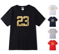 NEW Gold Print Mens T-shirt Michael Air Legend 23 Jordan Men shirt Top Sport Hot