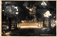 B29963 Campulung Muscel Gradina Publica  real photo arges  romania