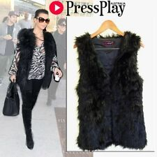 Faux Fur Hand-wash Only Vests for Women