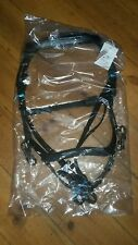 pony/small black leather Micklem Competition style multi way bridle reins