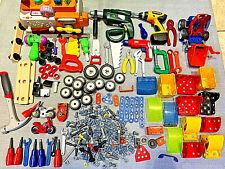 Kids Construction Plastic Toys Pieces Tools & Accessories Bundle