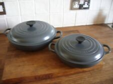 Le Creuset Grey Cast Iron Shallow Casserole Dish - Very Good Condition