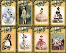 Beautiful Ballerina's  ~ Card Making Toppers / Scrapbooking / Crafting