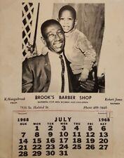 VINTAGE AFRICAN AMERICAN CHICAGO GENEALOGY HAUGABROOK BROOK'S BARBER SHOP JONES