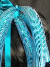 CYBERLOCKS CYBERLOX hairfalls.GOBBOLINO turquoise metalic festival COSPLAY GOTH
