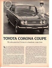 1967 TOYOTA CORONA COUPE ~ ORIGINAL 4-PAGE ROAD TEST / ARTICLE / AD