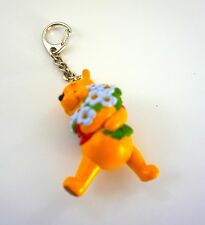 Disney Winnie The Pooh Flowers Keychain Keyring Key Chain Ring PVC
