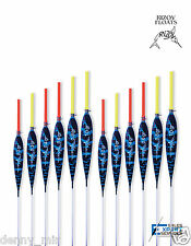 12 x Hand Made POLE FLOATS - Rizov RF98 - 0.2/0.3/0.4/0.6/0.8/1g - in NEW BOX