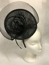 Black Disc Plate Fascinator,Races,Wedding,Equine,Show,Melbourne Cup,Fashions