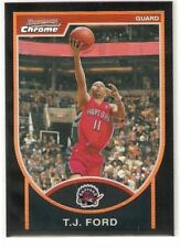 2007-08 BOWMAN CHROME BLACK REFRACTOR SERIAL #/199 T.J. FORD TORONTO - FREE SHIP