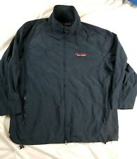Vtg Polo Sport Ralph Lauren Mens Windbreaker Jacket Blue Full Zip Large Spellout