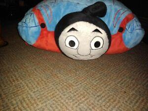 "Pillow Pets THOMAS Train Plush 16"" Convertible Stuffed Travel pillow"