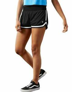 Mesh Notch Shorts Champion Life Womens Soft Ribbed Waist Band Stripe Inseam 2.5""