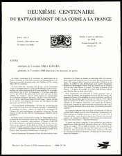 FRANCE ANKÜNDIGUNGSBLATT 1968 LUDWIG XV KORSIKA CORSE MINISTER SHEET RARE zb91