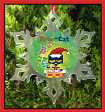 PETE THE CAT CHRISTMAS ORNAMENT - SNOWFLAKE ORNAMENT