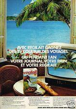 Publicité advertising 1977 Le Lait écrémé Regilait Jeu Concours