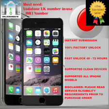 Vodafone unlocking service for iPhone 5 SE 6 6S 7 7+ 8 8+ X Xr Xs Max 11 Pro Max